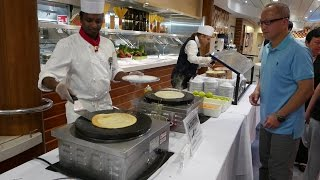 Royal Caribbean Dinner Buffet Food 150+ Items @ Windjammer Marketplace Allure of the Seas (HD)