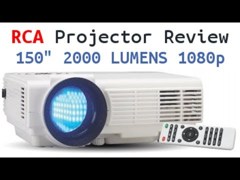 """RCA Home Theater Projector Review - 150"""" 2000 Lumens 1080p compatible"""