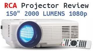 "RCA Home Theater Projector Review - 150"" 2000 Lumens 1080p compatible"