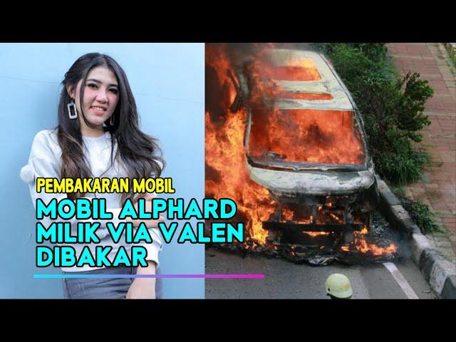 Mobil Alphard Via Valen Dibakar Oknum Tak Dikenal