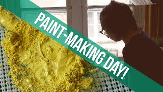 Paint Making Day - Handmade Watercolors - Studio Vlog