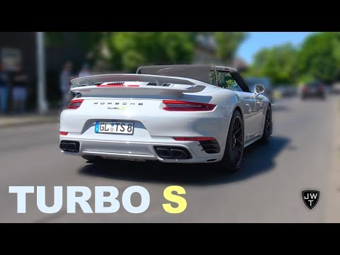 Modified 2017 Porsche 911 Turbo S Convertible! Turbo Exhaust SOUNDS!