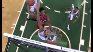 DeMar DeRozan poster dunk on Rudy Gobert: Toronto Raptors vs. Utah Jazz