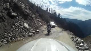 Hill ride on Honda Navi: Enroute Jalori pass from Khanag