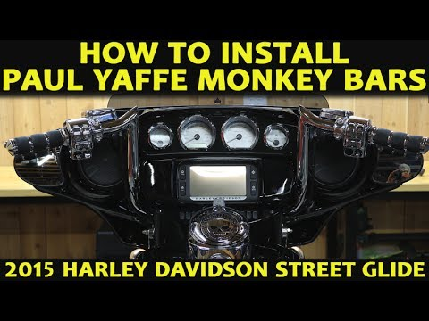 How to Install Paul Yaffe Monkey Bars on a Harley Davidson Street Glide  Ultra Classic