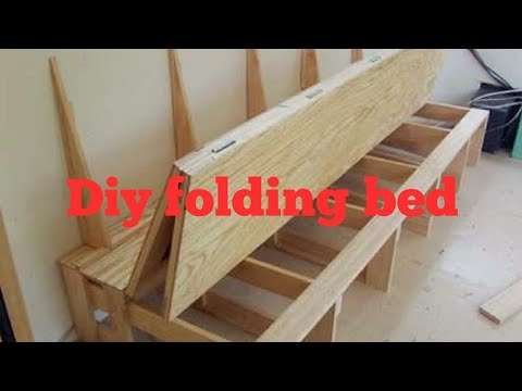 Diy how to make a folding bed🛌.   YouTube