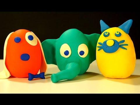 Сюрпризы Плей До - Игрушки из Мультфильма Тролли - Лепим из Пластилина Play Doh - Видео для Детей
