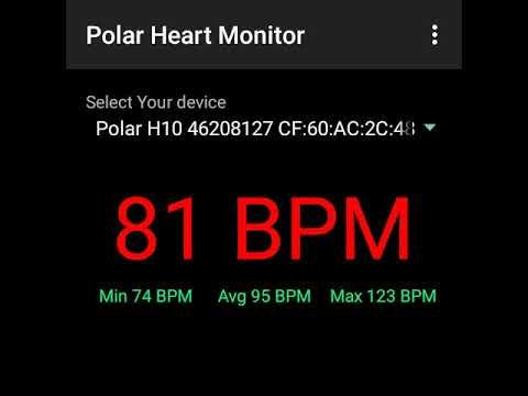 Vuzix Blade connected to Polar H10 Heart Rate sensor over BLE