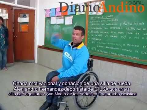Charla Motivacional Y Entrega De Una Silla De Ruedas