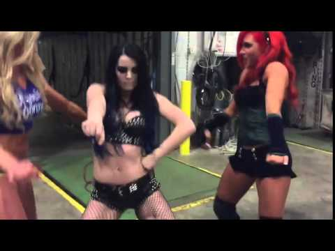 PAIGE DANCING TO...JOHN CENA'S THEME SONG!