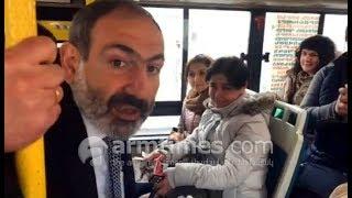 Պարոն Մարության, 54 համարն աշխատում է 45 րոպեն մեկ. վարչապետը նստել է ավտոբուս եւ բողոքում