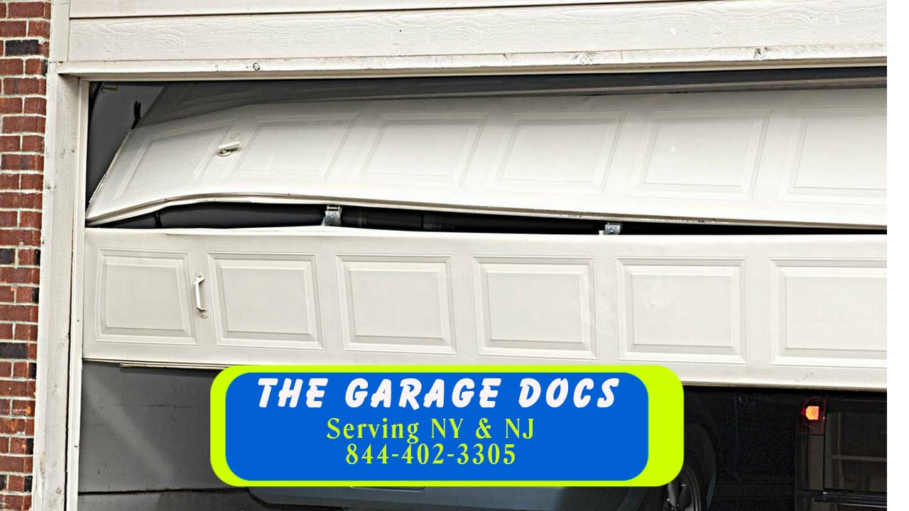 Garage door track alignment nj youtube for Garage door alignment