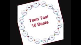 Teen Taal Tabla 16 beats तबला तीन ताल १६ मात्रा