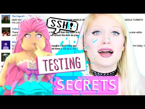 MY SUBS SHOW ME ROYALE HIGH  SECRETS! Putting YOUR COMMENTS To The TEST!