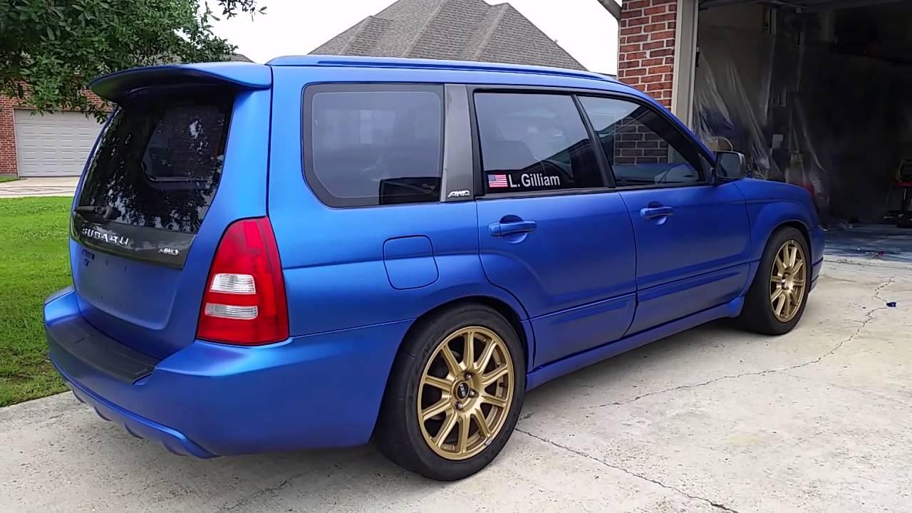 2015 Forester Xt Premium >> World rally blue plastidip 2004 forester XT - YouTube