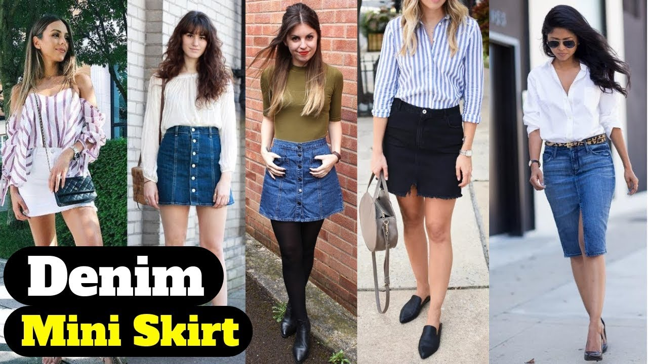 Latest denim mini Skirt designs & outfit ideas 2019 || Girls/Women's fashion inspiration 1