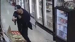 Raw: Liquor store robbery suspect's face caught on camera in Murfreesboro, TN