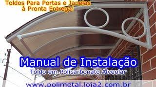 Manual de instalação - Toldo em policarbonato