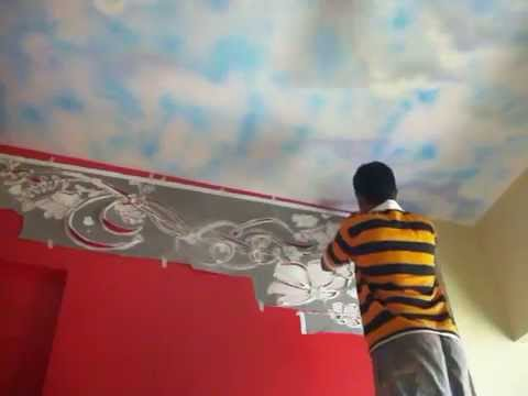 Hyderabad Wall Painting Stencils: Fabulous Wall Stencils, Stencil Designs    YouTube