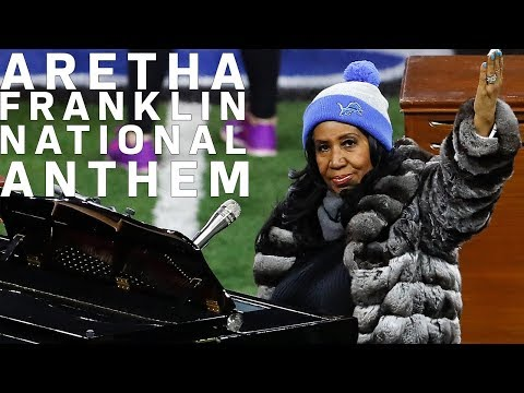 Aretha Franklin Sings the National Anthem on Thanksgiving in Detroit (2016) | NFL