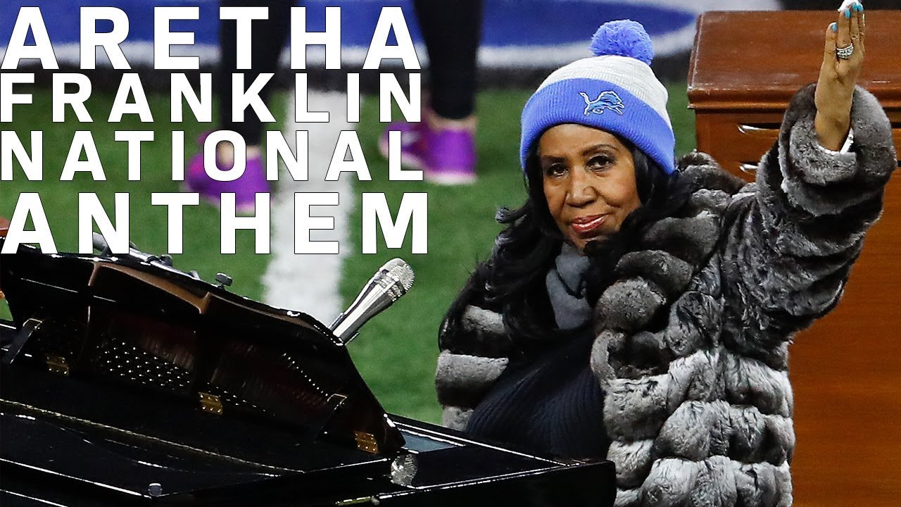 Aretha Franklin Sings the National Anthem on Thanksgiving in Detroit (2016)   NFL