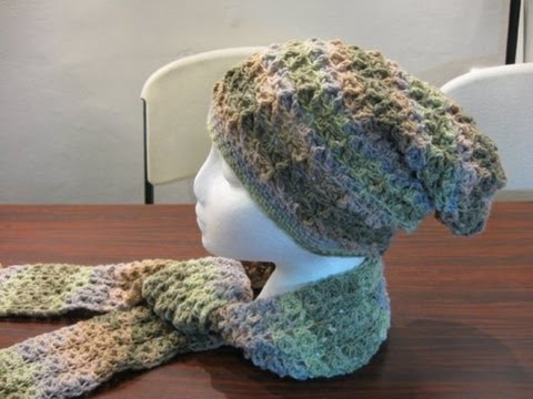 ... Stitch Slouch Hat - Crochet Tutorial - New Crochet Stitch - YouTube