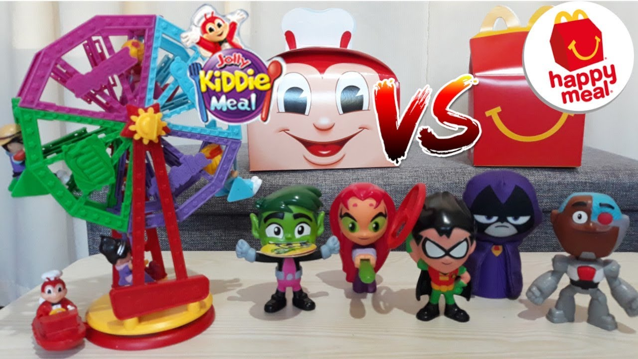 July 2019 Jollibee Kiddie Meal Vs Mcdonald S Happy Meal