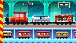 Мультики про паровозики. Поезд для детей. Мультфильм веселый паровоз. Поезда для детей мультик