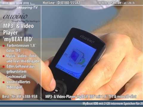 auvisio MP3- & Video-Player mit 1.8