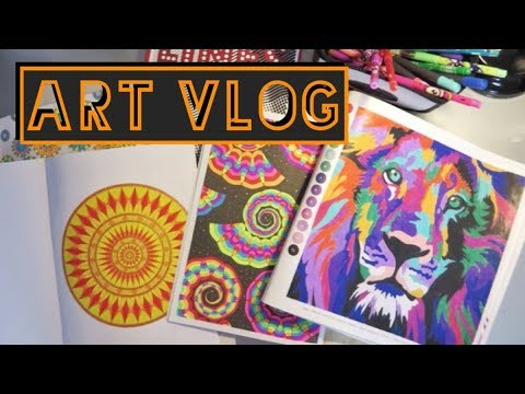 видео: Арт Влог раскрашенное в августе/покупки канцелярии и книг