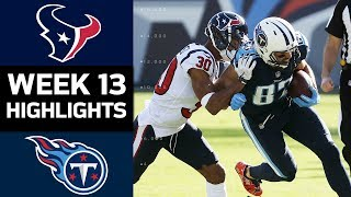 Texans vs. Titans | NFL Week 13 Game Highlights