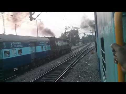 Indian Railway ALCO Fest : Triple KJM ALCo chugging and Parallel action