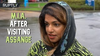 'Assange exposed war crimes but no one was convicted' – Rapper M.I.A. visits WikiLeaks founder