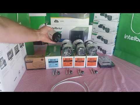 Como montar um Kit CFTV com  câmeras Intelbras