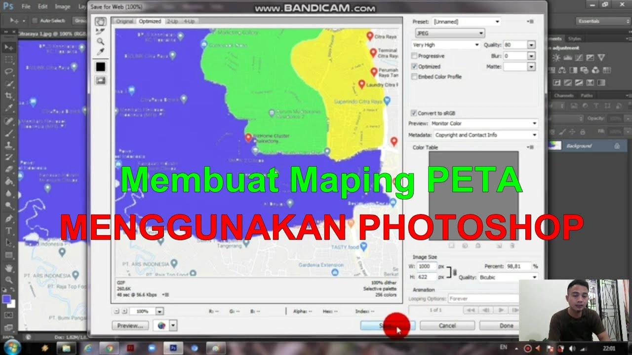 Cara Membuat Peta di Photoshop - YouTube