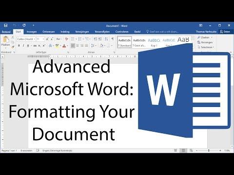 Advanced Microsoft Word - Formatting Your Document