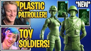 "Streamers USING *NEW* ""TOY TROOPER & PLASTIC PATROLLER"" Skins in Fortnite (Toy Soldiers)"
