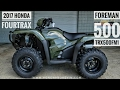 2017 Honda Foreman 500 4x4 ATV (TRX500FM1H) Walk-Around Video | Olive | HondaProKevin.com