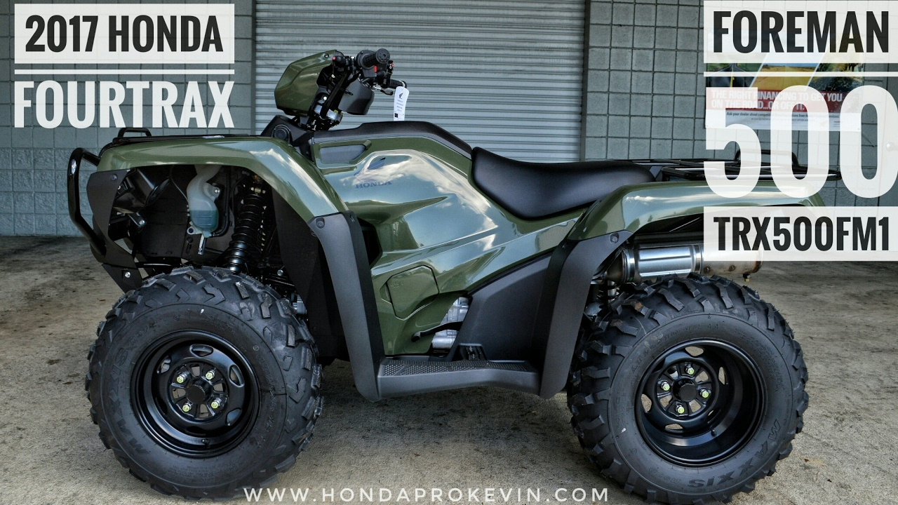 Honda Foreman 500 >> 2017 Honda Foreman 500 4x4 Atv Trx500fm1h Walk Around Video