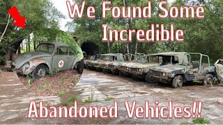 We Explore A Huge Collection Of Abandoned vehicles! You Wonâ...