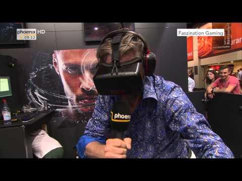 Gamescom 2015: Boris Barschow testet die Virtual-Reality Brille am 11.08.2015