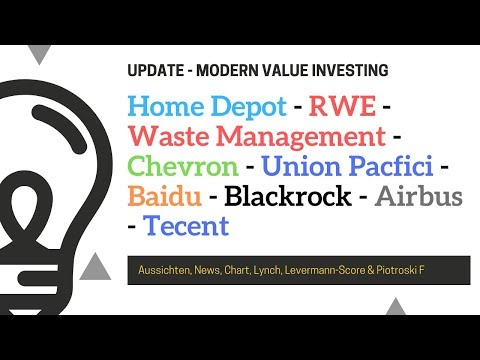 Home Depot - RWE - Waste Management - Chevron - Union Pacfic