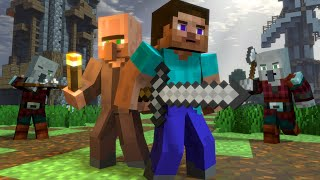 Minecraft Animation | Village Raid | Steve Life