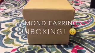 Costco Diamond Earrings - Princess Cut/ Unboxing