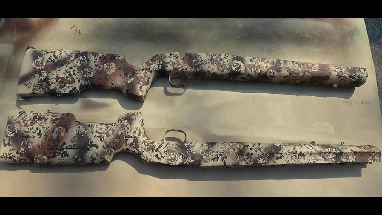 DIY Desert Camo Rifle Paint - Boyd's Pro Varmint Stock