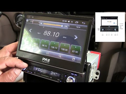 How to install Touchscreen Bluetooth Car Stereo with Flip Out Screen - 7 single Din Pyle
