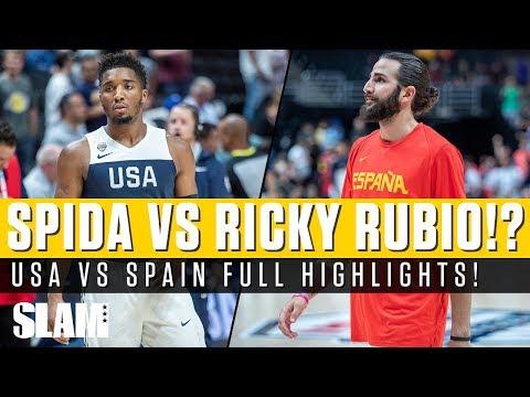 Donovan Mitchell vs Ricky Rubio!? 👀 USA vs Spain Full Highlights