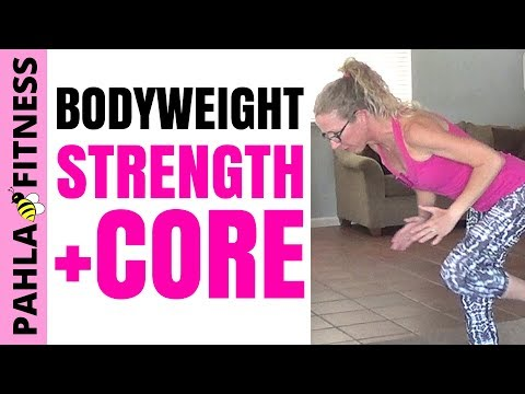 Bodyweight STRENGTH + STABILITY HIIT | 40 Minute Barefoot Body Sculpting Workout without Equipment
