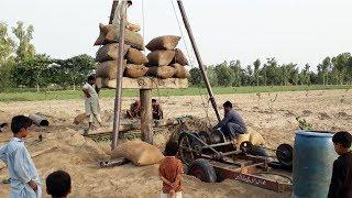Керівництво трубчастий колодязь нудний метод в сільському Пенджабі Пакистан Частина 1|| трубчастий колодязь бурити || сільське життя