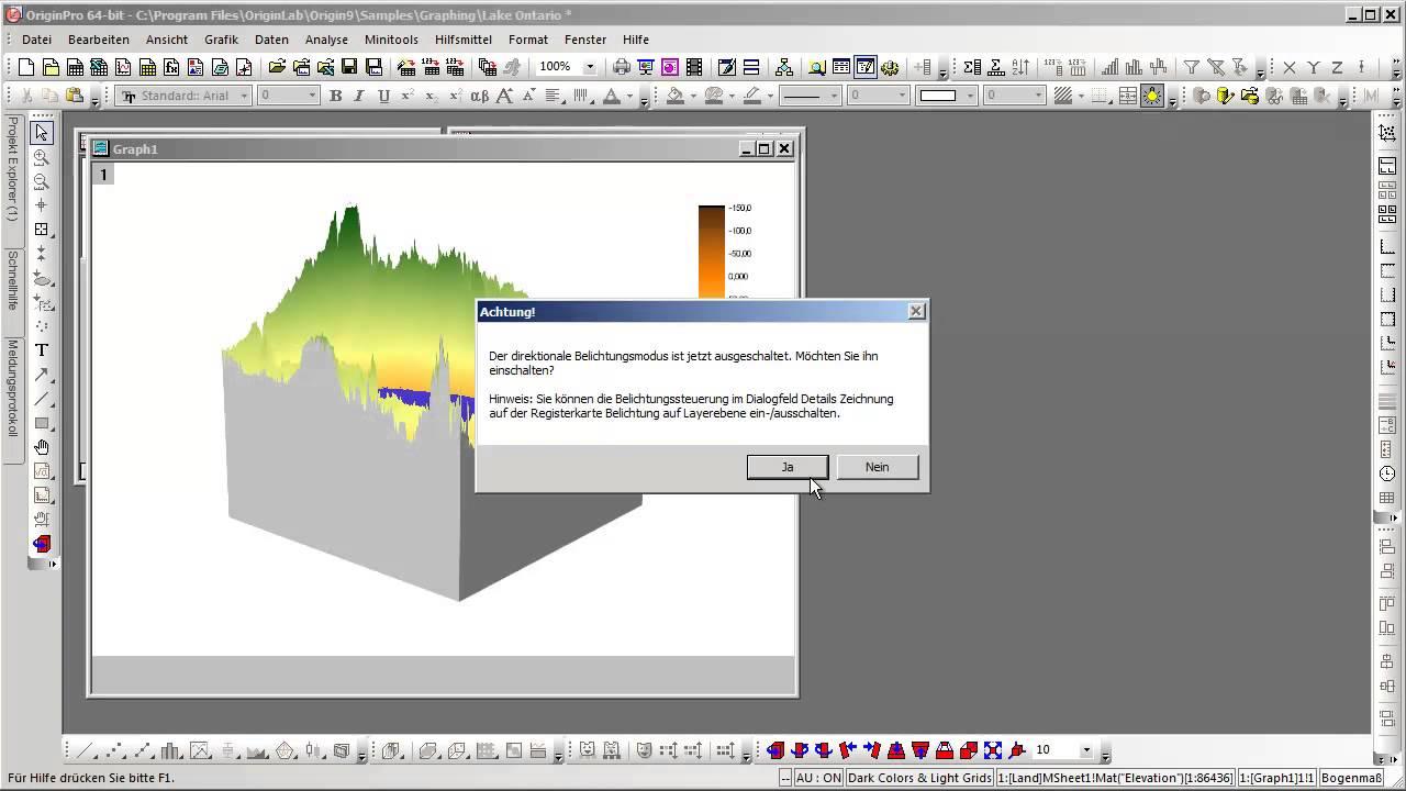 OriginLab® Origin 9: Neue 3D-Diagramme basierend auf OpenGL - YouTube